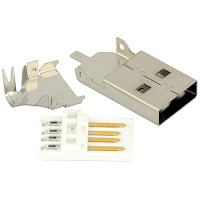 Tensility 50-00467, Connector, USB A plug, molding style