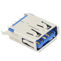 Tensility 54-00008, Connector, USB A 3.0 Jack, PCB mount, 180°