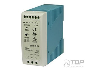 WuT 11085, DIN rail power supply 24V, 1.7A