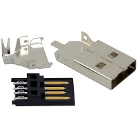 Tensility 50-00466, Connector, USB A plug, molding style