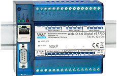 WuT 57730, Web-IO 4.0 Digital, 12xInput, 12xOutput