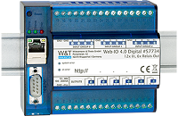 WuT 57734, Web-IO 4.0 Digital, 12 x Digital In with 6 x relay outputs