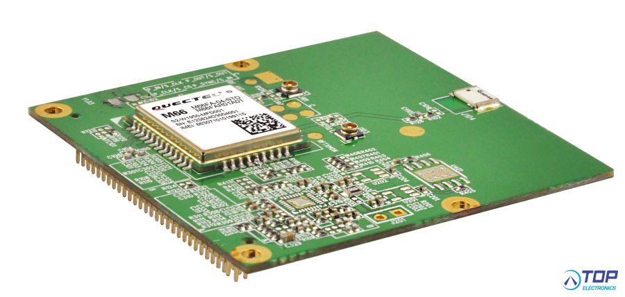 Quectel M66 GSM/GPRS module on adaptor board